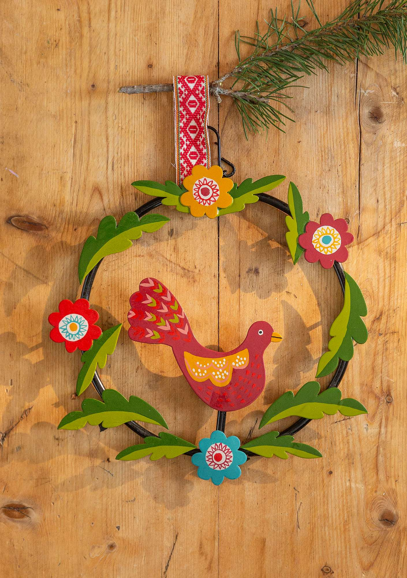 """Paradiset"" metal holiday wreath multi-color"
