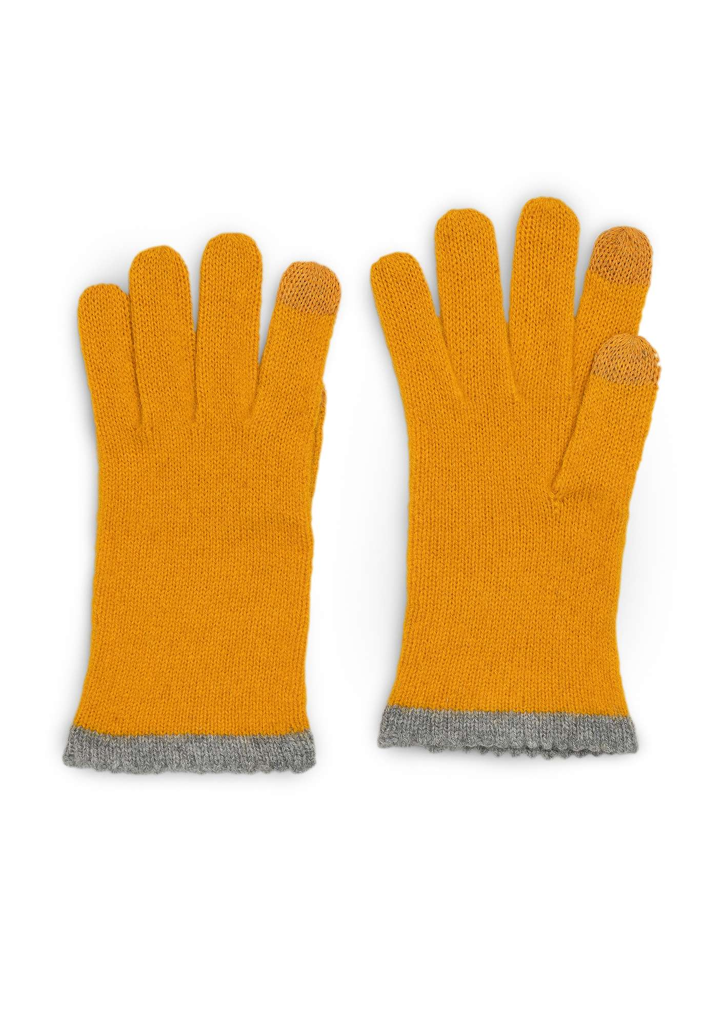 Alpaca blend gloves with touchscreen function gold ocher