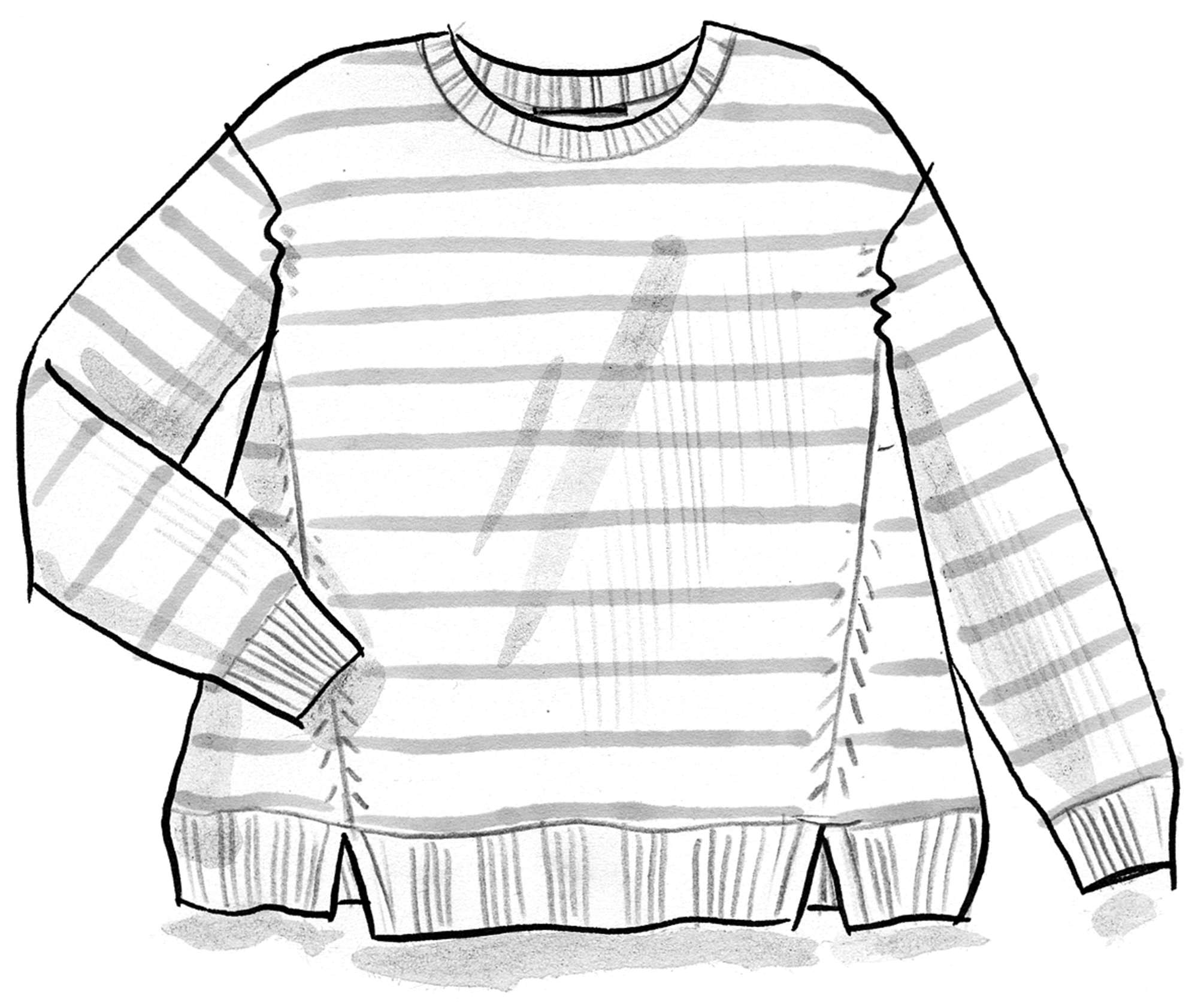 Striped sweater in recycled cotton