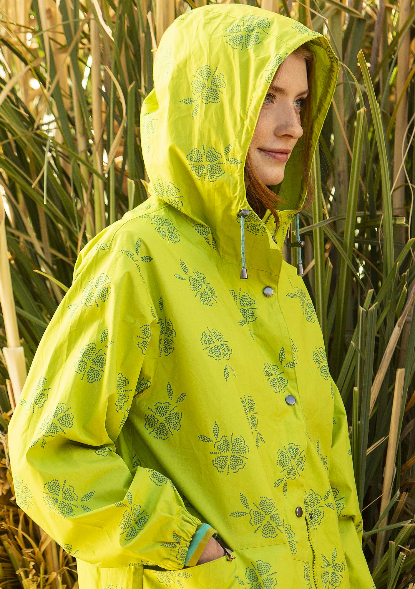 """Nice"" eco-cotton parka tropical green"