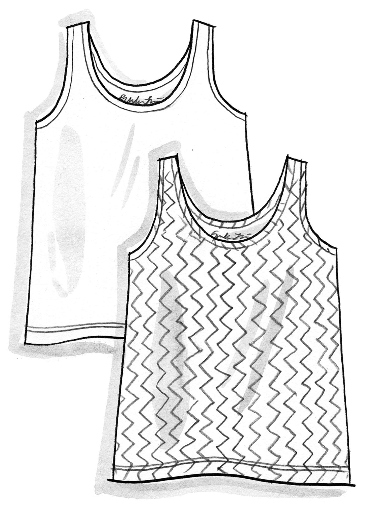 VIGG tank top in modal/organic cotton/elastane