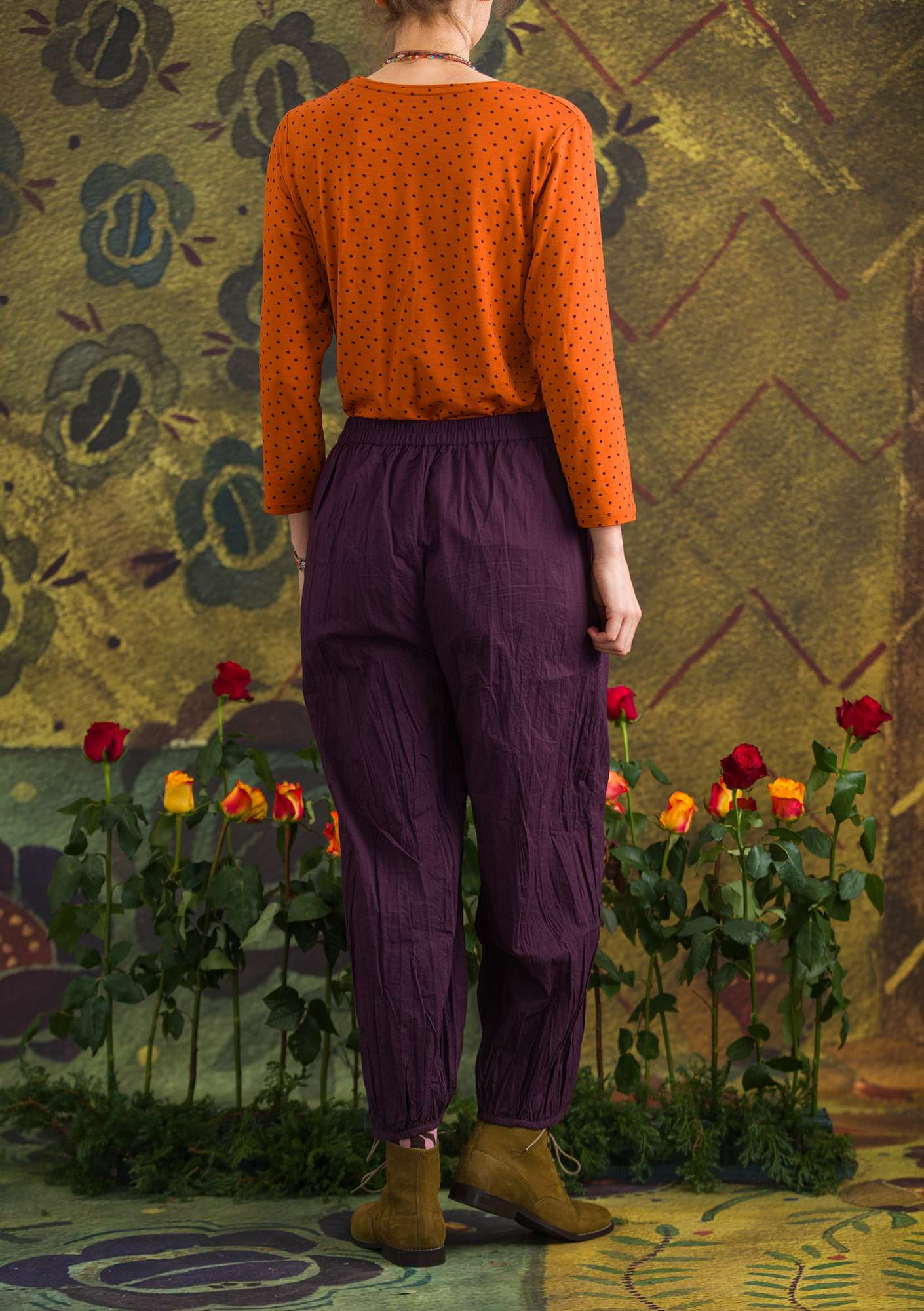 """Pimpinella"" organic cotton trousers lake"