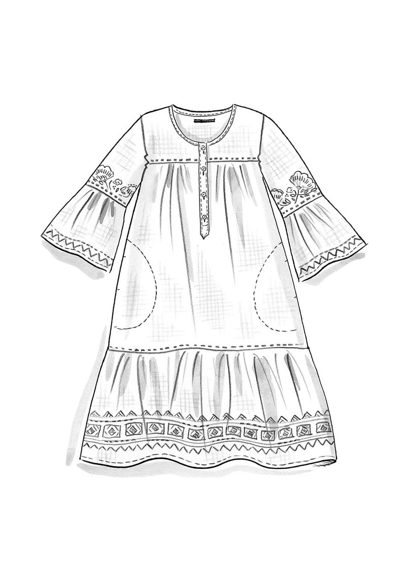 """Majorelle"" organic cotton/linen dress dark lily"