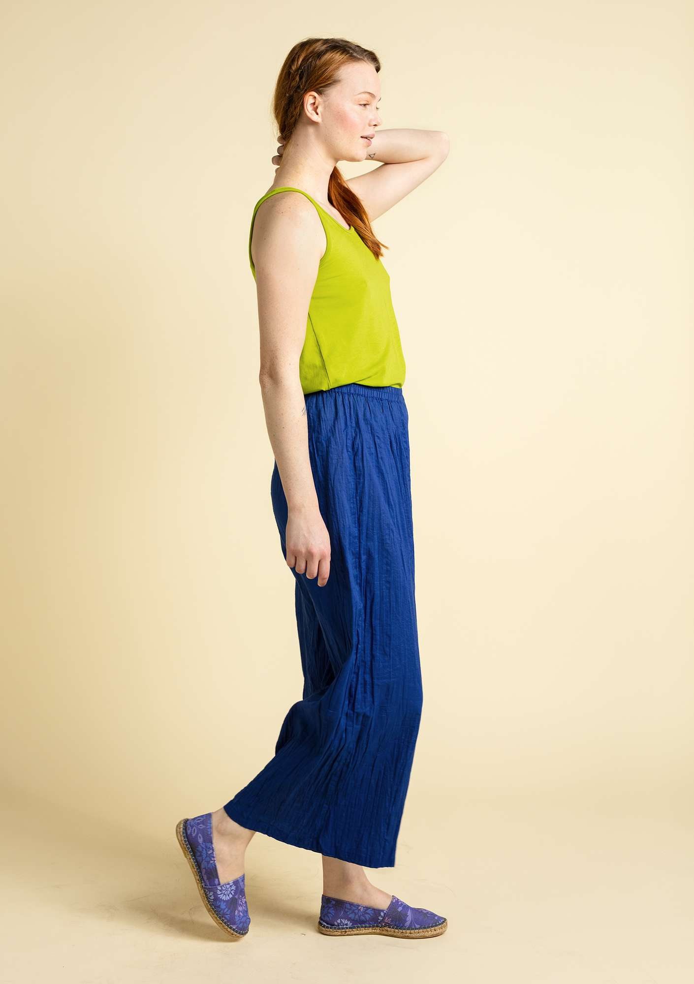 """Grekland"" eco-cotton pants klein blue"