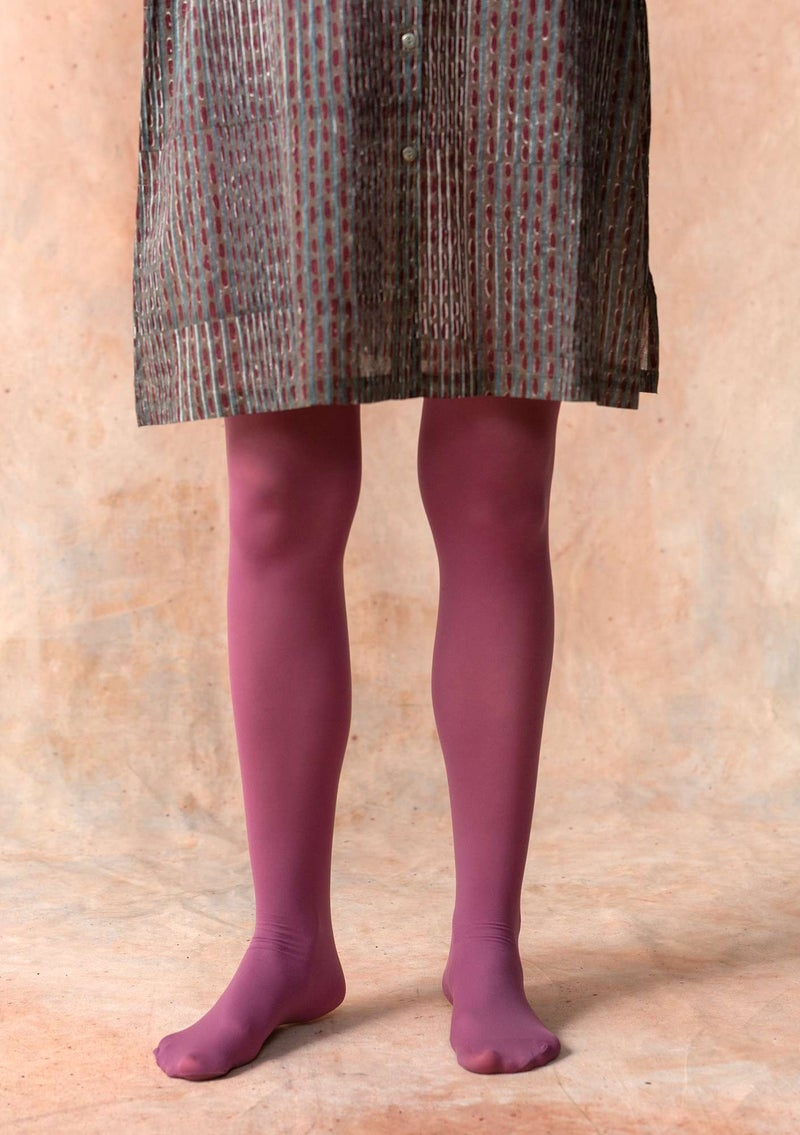 Tights in recycled nylon heather