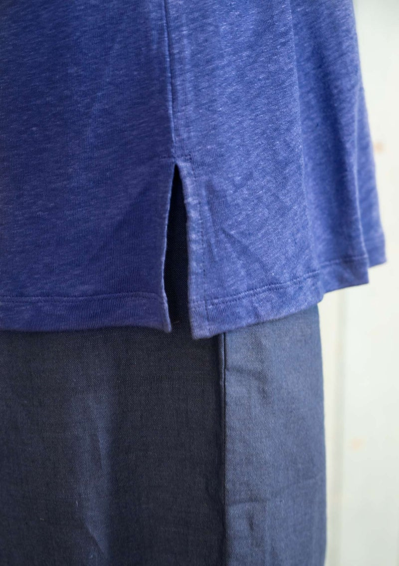Jersey top in linen lupine
