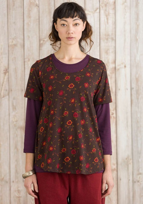 Vanja top mulberry/patterned