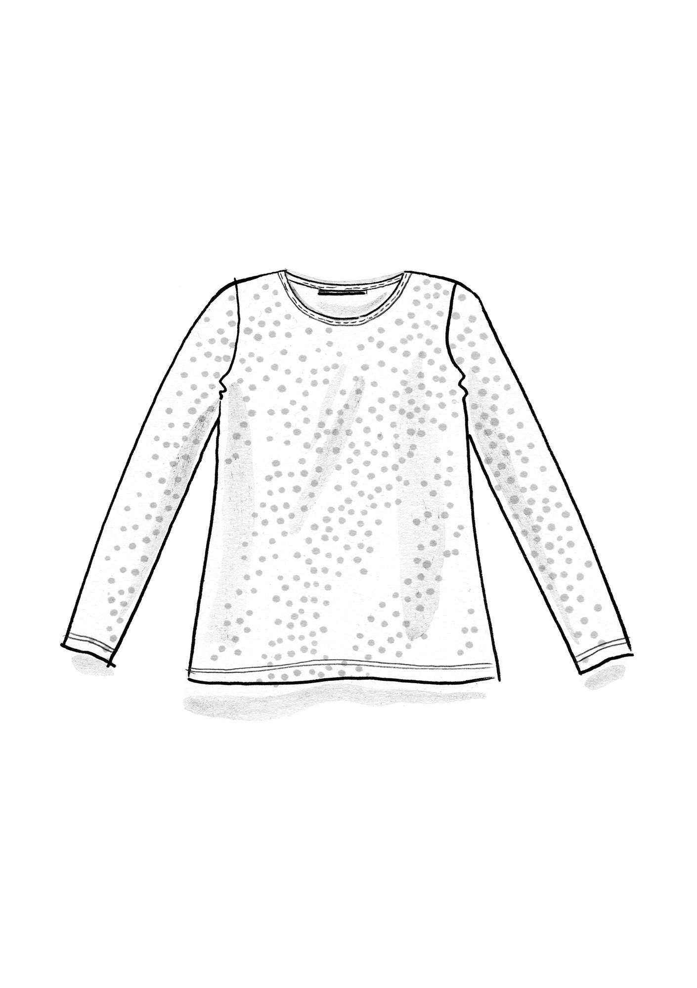Dotted silk-blend top graphite