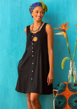 Marimba jersey dress black