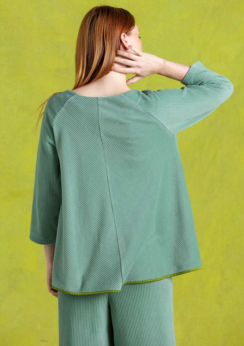 Corduroy velour tunic wintergreen