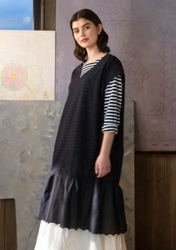 Solid-colour dress black