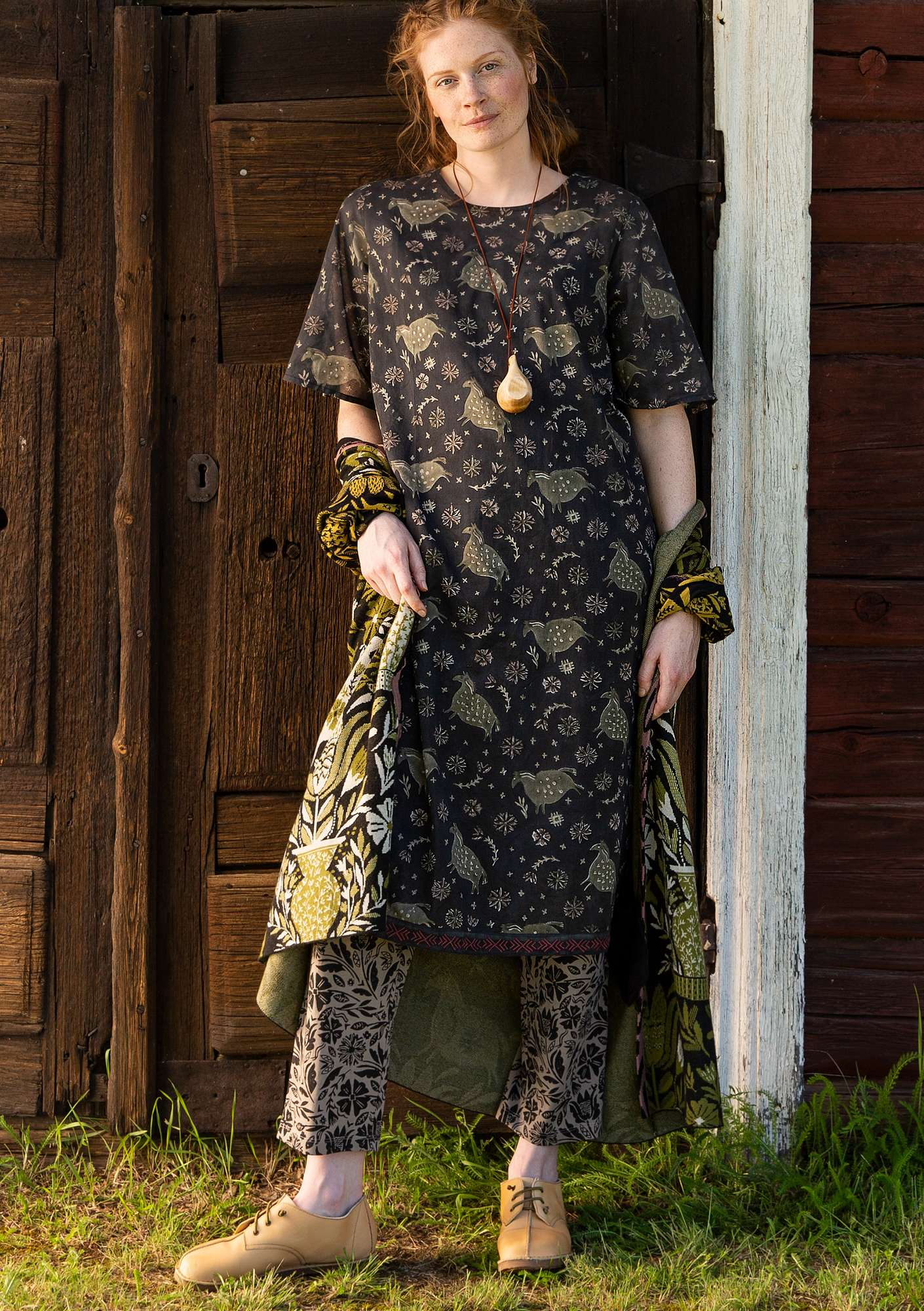 """Ghoda"" organic cotton dress black"