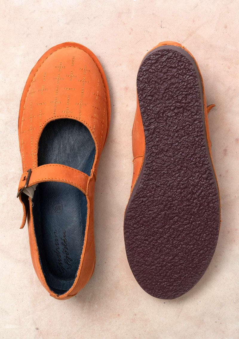 """Earth"" nubuck strap shoes mountain ash"