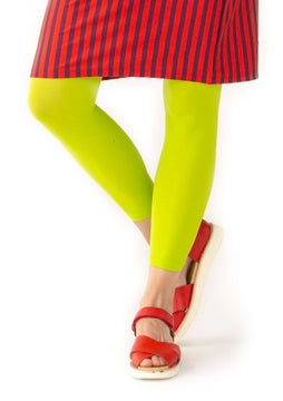 Solid-colour leggings tropical green