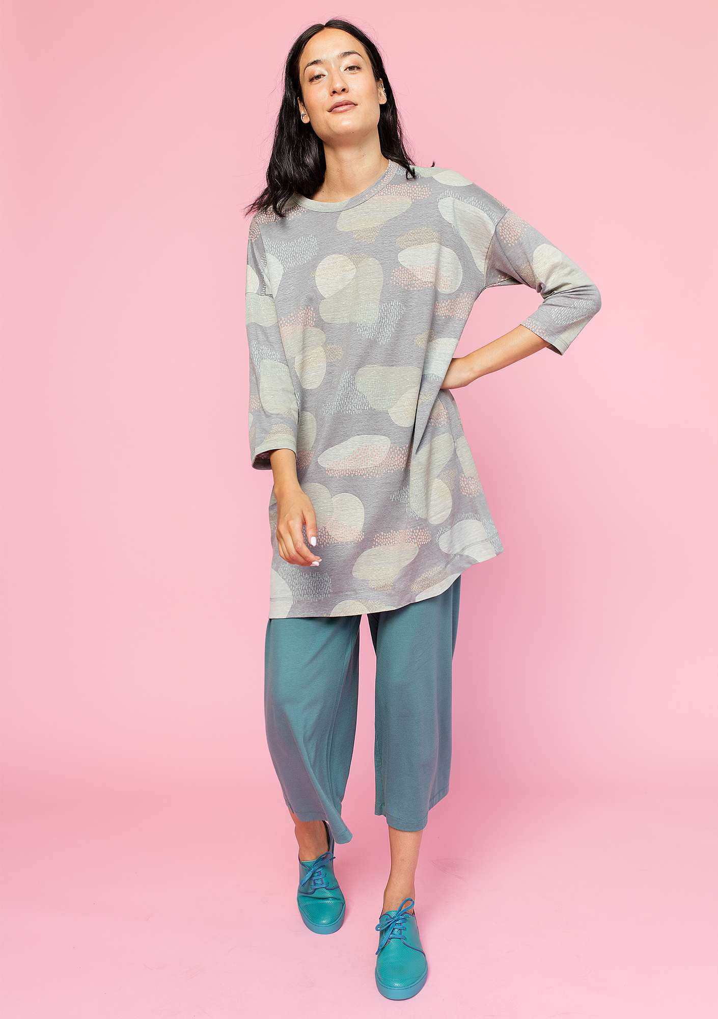 """Dis"" tunic in linen grey"