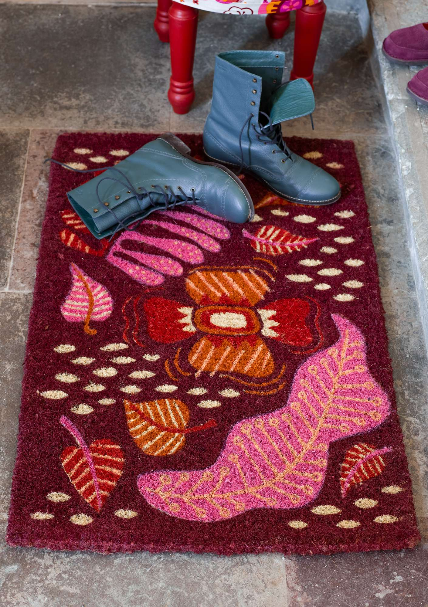 """Paradise"" coir doormat agate red"