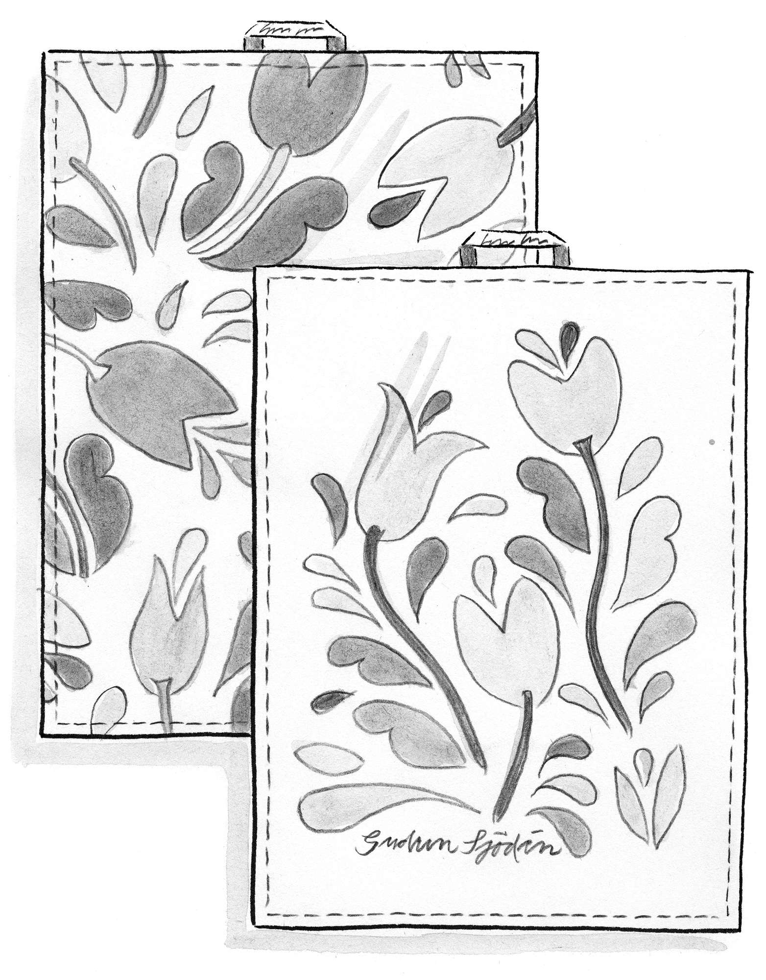 """Botanica"" organic cotton tea towels, 2-pack"