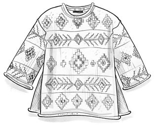 """Berber"" organic cotton/wool sweater"